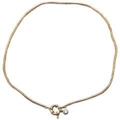 Cristina Sabatini Natural Gem Gold Plated Sterling Silver Necklace