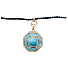 Cristina Sabatini Rose Gold Platted ss Natural Gem Stone Necklace