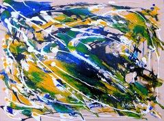 Flying Bird, Painting, Acrylic on Wood Panel