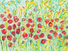 Garden in Summer, Painting, Acrylic on Canvas