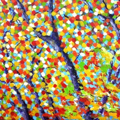 Tree at Fall, Painting, Acrylic on Canvas