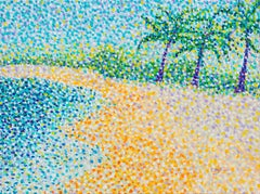 Tropical beach, Painting, Acrylic on Canvas