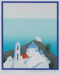 """Mediterranean,"" original serigraph by Cristina Villamor"