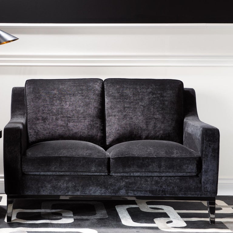 Modern Cristine Grey Love Seat by DOM Edizioni For Sale