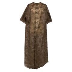 Cristobal Balenciaga Haute Couture evening coat in Calais lace Circa 1960
