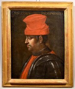 Portrait Knight Niccolò Piccinino Old master 16/17th Century Oil on canvas Art