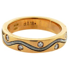 Crivelli 18 Karat Gold Diamond Ring