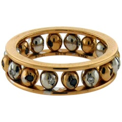 Crivelli 18 Karat Gold Diamond Rolling Balls Ring
