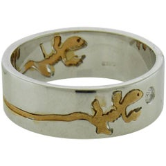 Crivelli 18 Karat Gold Diamond Salamander Ring