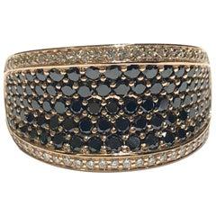 Crivelli Diamantring aus Weißen und Schwarzen Diamanten 18 Karat Rosegold