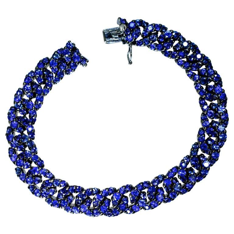 Crivelli Sapphire and 18 Karat Bracelet For Sale