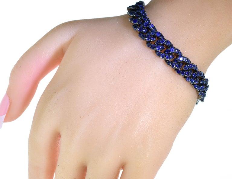Women's or Men's Crivelli Sapphire and 18 Karat Bracelet For Sale