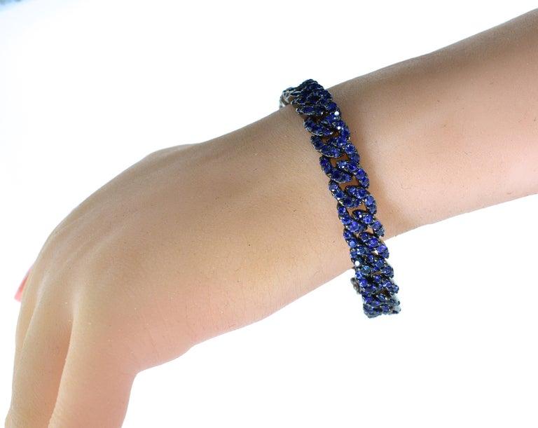 Crivelli Sapphire and 18 Karat Bracelet For Sale 1