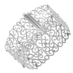 Crochet Fine Jewelry White Diamond 18 Karat Gold Bracelet
