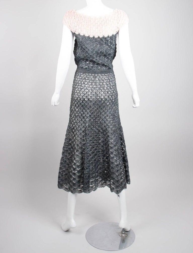 9f5802aa4ae Crochet Raffia Dress circa 1950s