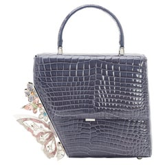 Crocodile handmade handle shoulder bag NWOT