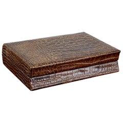 Crocodile Leather Cigar Box