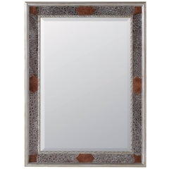 Crocodile Mirror with Silver Leaf