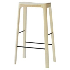 Crofton Bar Stool with Natural Pine Wood Frame by Daniel Schofield