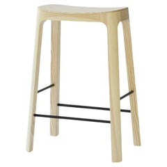 Crofton Counter Stool with Natural Pine Wood Frame by Daniel Schofield