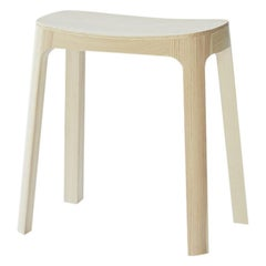 Crofton Stool with Natural Pine Wood Frame by Daniel Schofield
