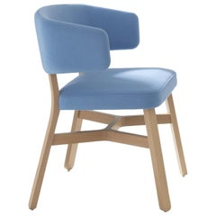 Croissant 571 Azure Chair by Emilio Nanni