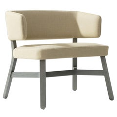 Croissant 572 Beige Lounge Chair by Emilio Nanni
