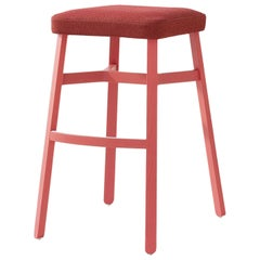 Croissant 578 Red Stool by Emilio Nanni