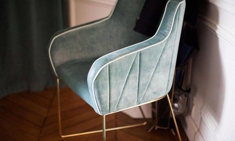 Portuguese Croix Chair Brass For Sale