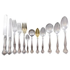 Cromwell by Gorham Sterling Silver Flatware Set for 12 Service 141 Pcs G Mono