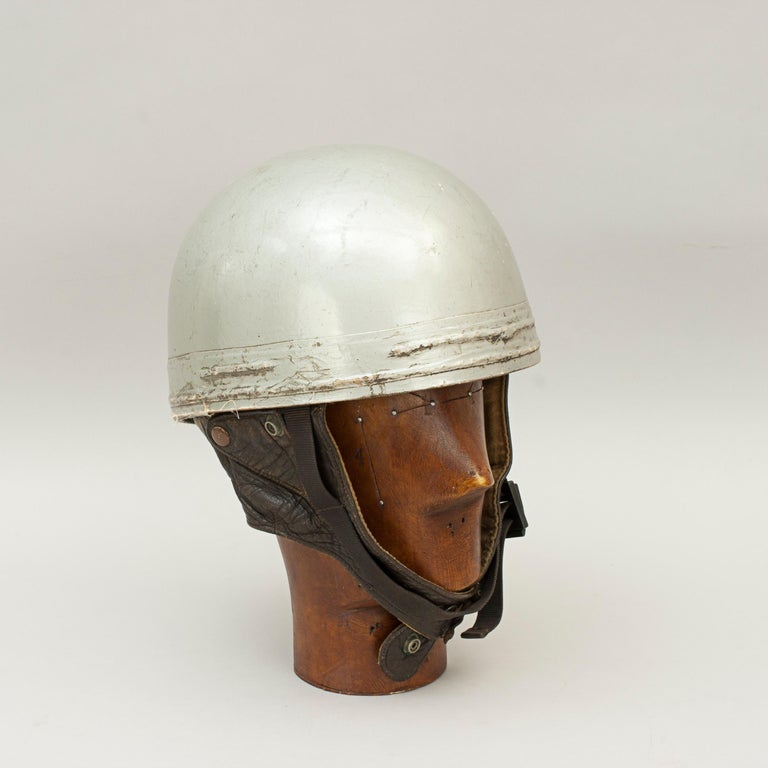 English Cromwell Motorcycle Helmet, ACU Approved Pudding Basin Racing Helmet For Sale