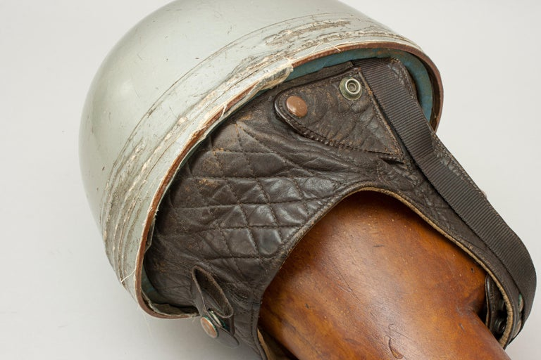 Cromwell Motorcycle Helmet, ACU Approved Pudding Basin Racing Helmet In Good Condition For Sale In Oxfordshire, GB