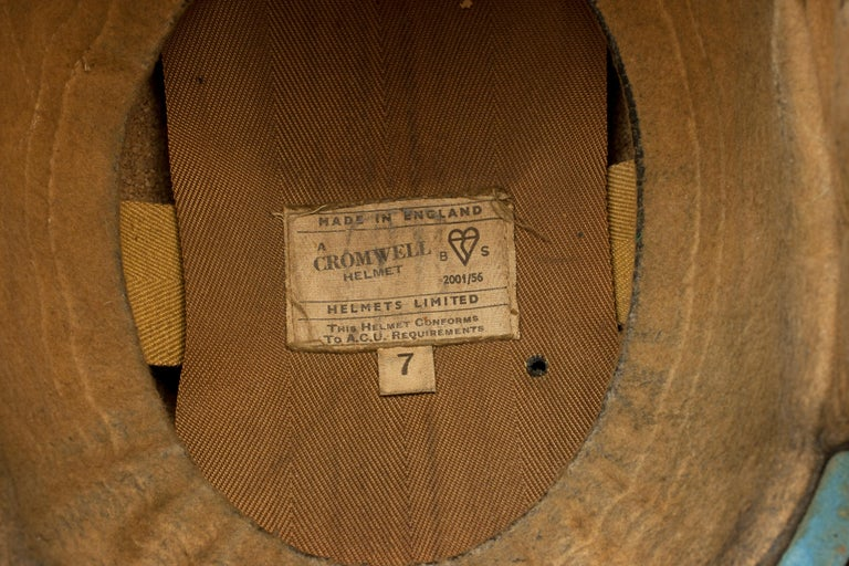 Mid-20th Century Cromwell Motorcycle Helmet, ACU Approved Pudding Basin Racing Helmet For Sale