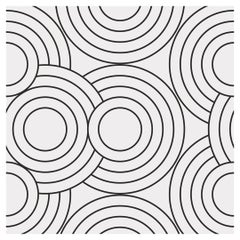 Crop Circles Designer Wallpaper in Color Chalk 'White on Black'