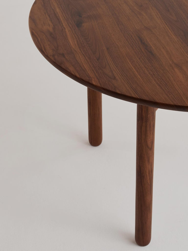 Cross Bar Table by Campagna, Contemporary Minimal Round Wooden Dining Table In New Condition For Sale In Portland, OR