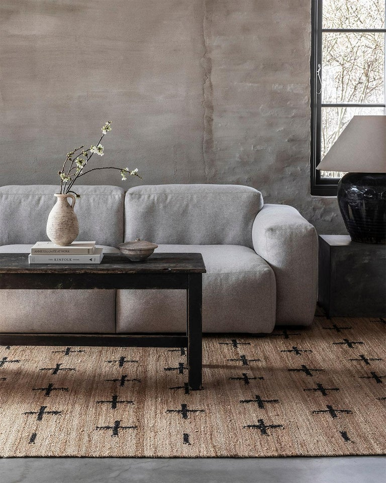 The Jute collection is woven with strong all-natural plant fibers in a modern rustic design. Equally as rugged as Minimalist. Available in three different patterns using our signature cream, teal, and black colors as accents. The rugs are a