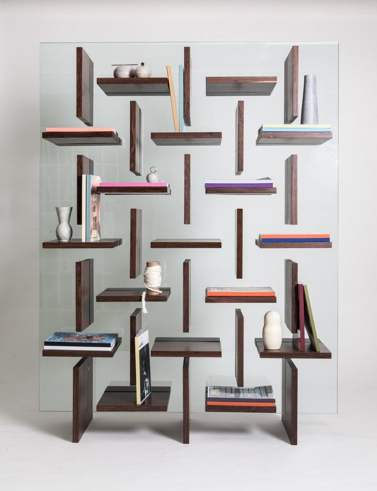 Modern Cross Bookcase by Alva Design For Sale