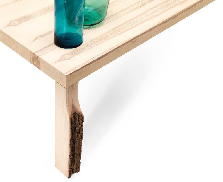 Modern Cross Fade Natural Dining Table by Mogg For Sale