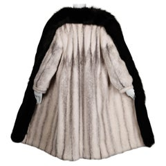 Cross Mink + Fox Fur Coat