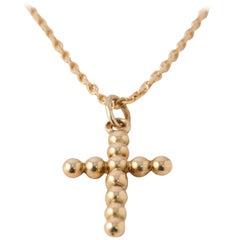 Cross of Jesus Round Shape Yellow Gold 18 Carat