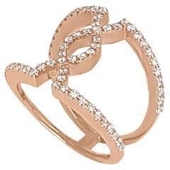 Cross Roads Diamond Ring