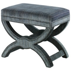 Cross Stool in Cotton by CuratedKravet
