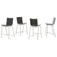 Crossed Legs, Set of 4 Bar Stools by Fabiaan Van Severen