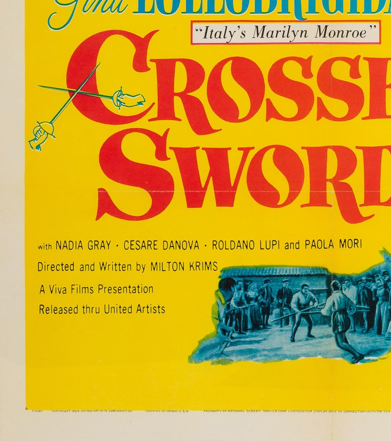 Crossed Swords US 1 Sheet Original Film Poster, 1953 In Excellent Condition For Sale In Bath, Somerset