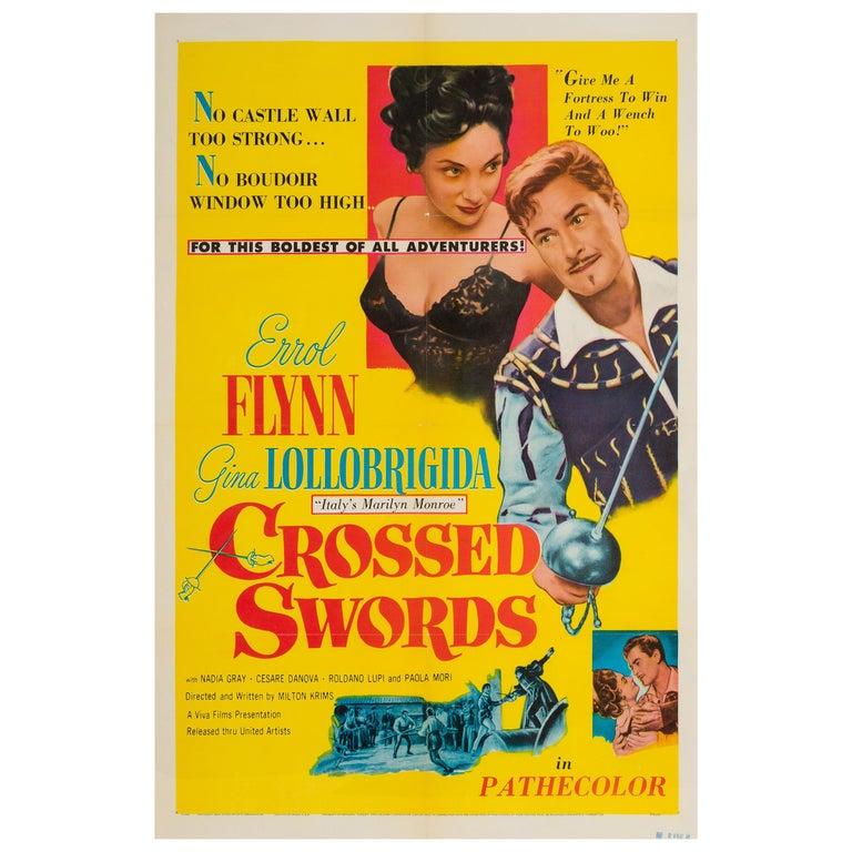 Crossed Swords US 1 Sheet Original Film Poster, 1953 For Sale