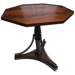Crotch Mahogany Sheraton-Style Octagonal Table