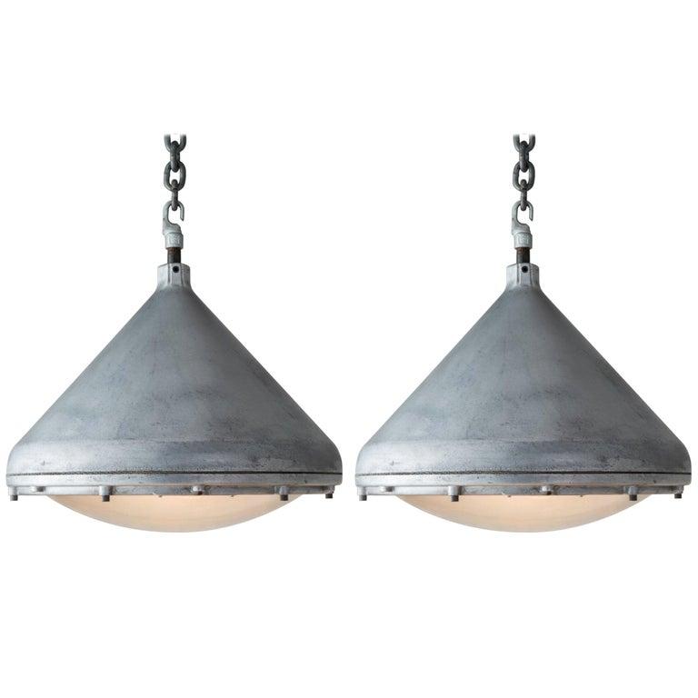 Crouse-Hinds Aluminium Pendant, America, circa 1950 For Sale