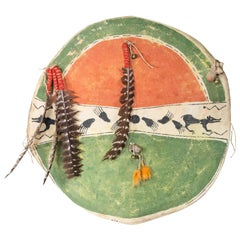 Crow Ceremonial Shield with Cover