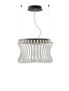 Crown 7334 Suspension Lamp in Glass, by Brian Rasmussen from Barovier&Toso