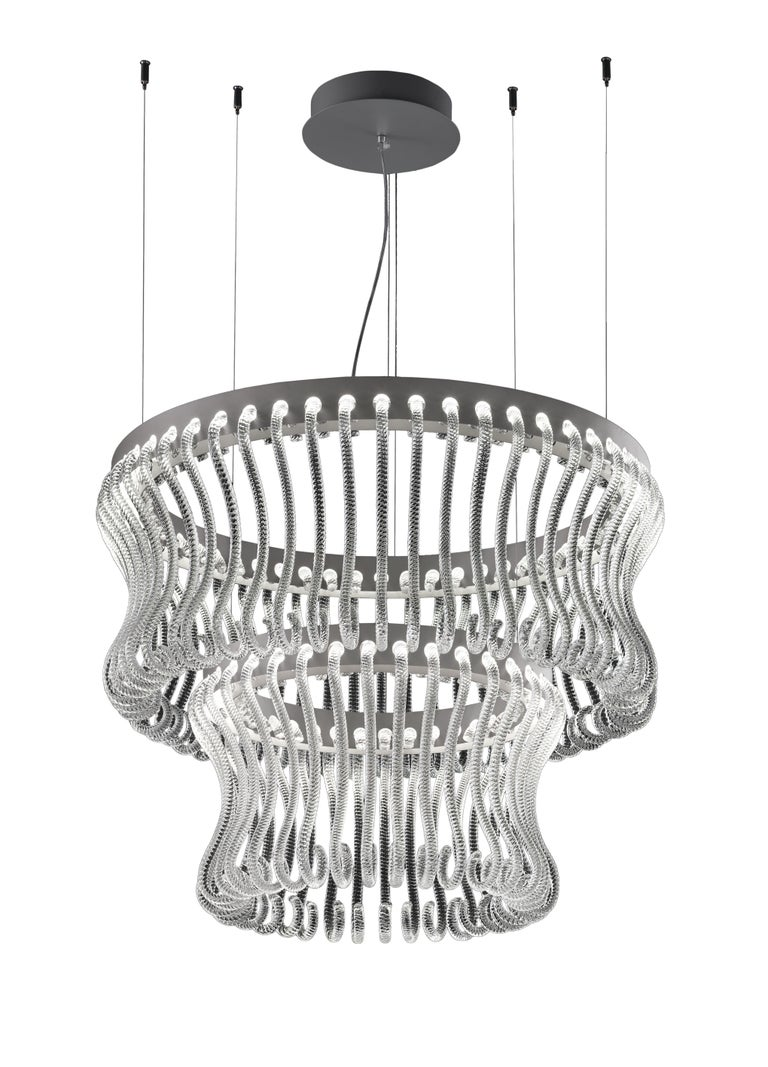 Modern Crown 7337 Suspension Lamp in Glass, by Brian Rasmussen from Barovier&Toso For Sale